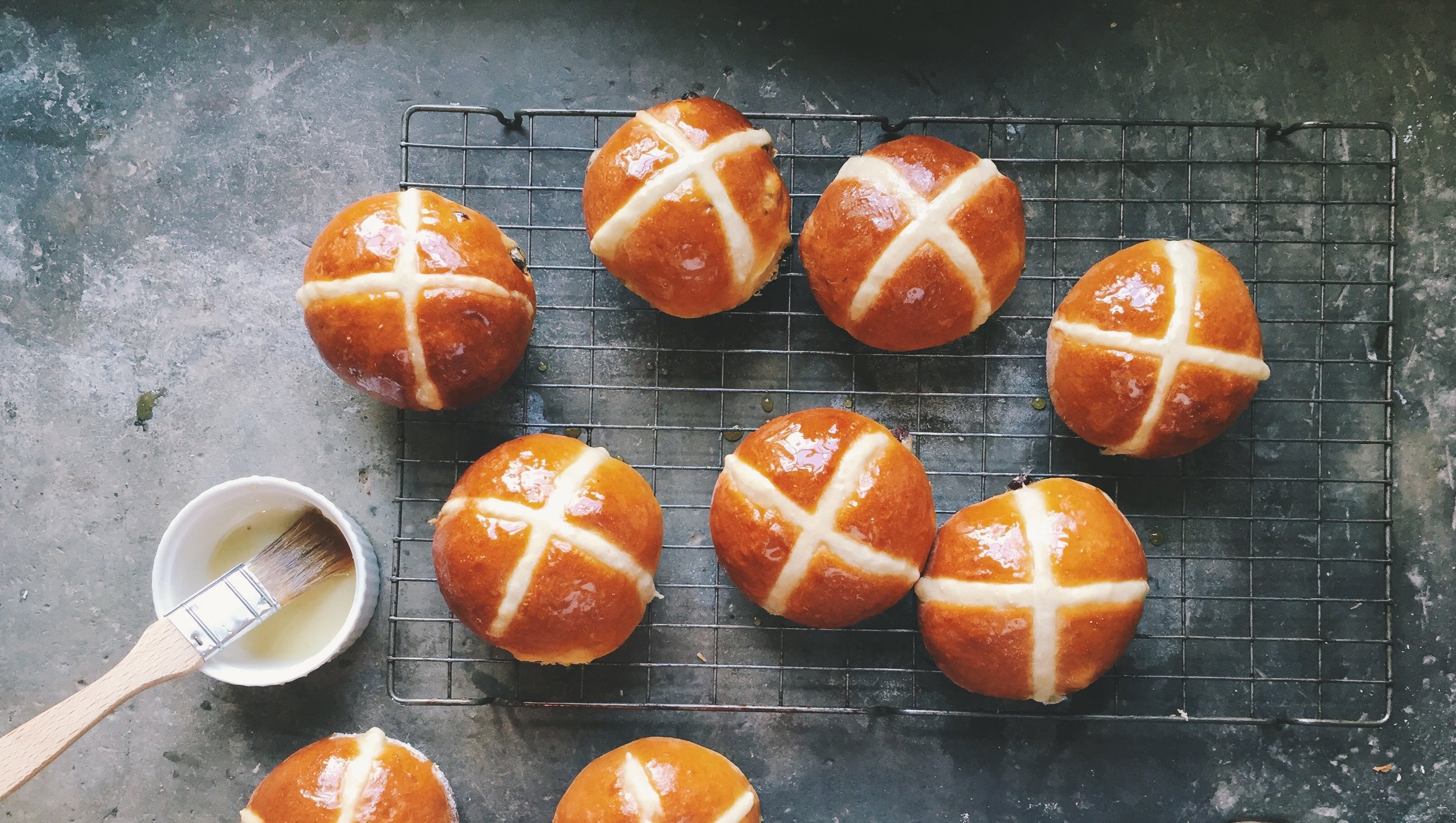 The Hill Food Company hot cross buns