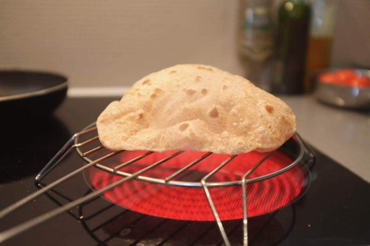 Puff, puff and away! Make sure your chapati puffs up nicely when you're cooking. Photography by Stephen Glennon.