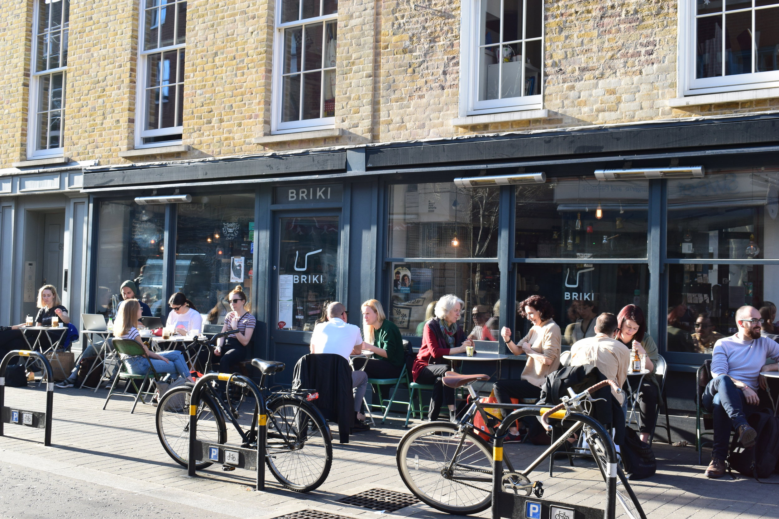 Briki is a Greek deli and cafe on Exmouth Market that's popular with the local Greek residents. Photo from Brik.