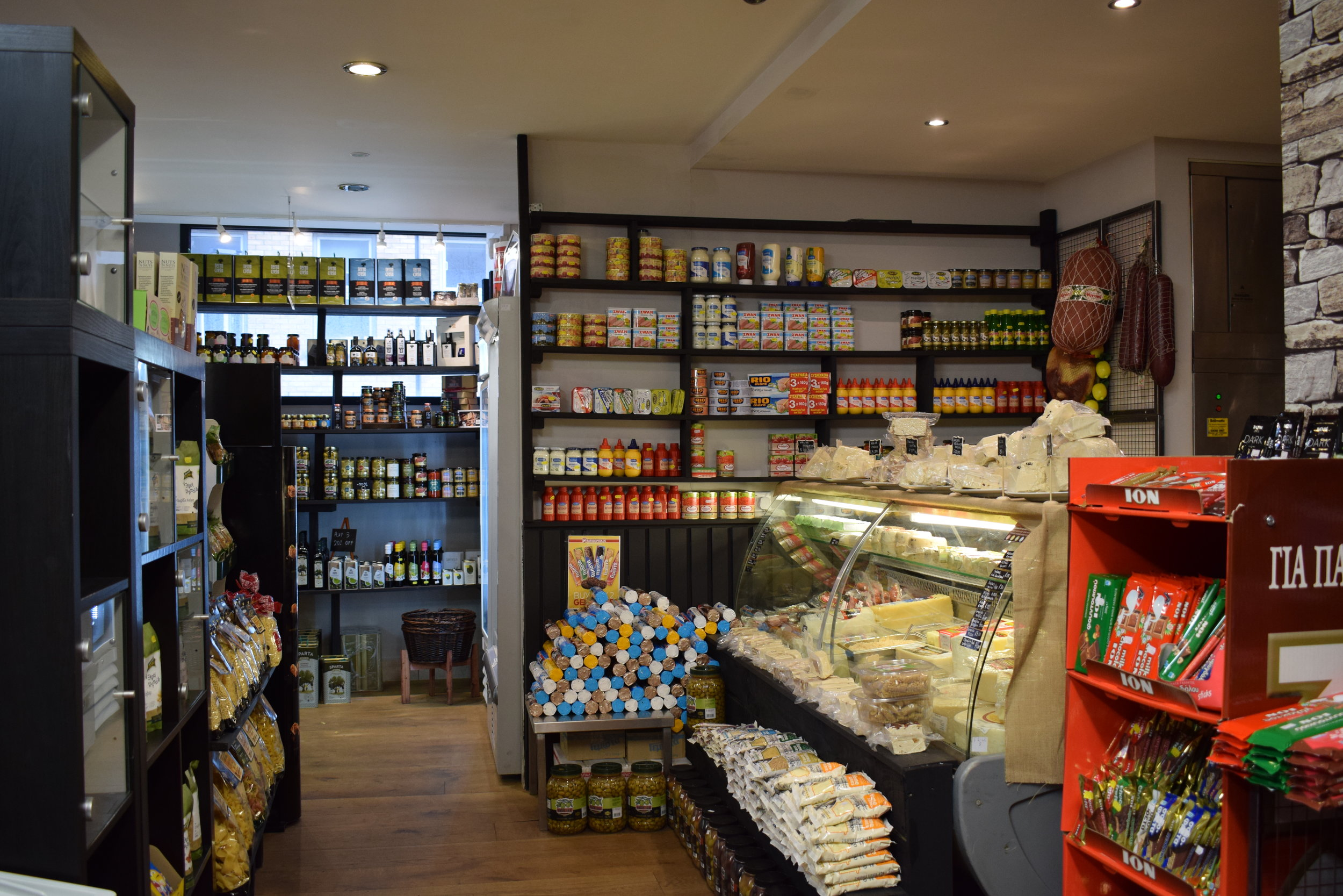 Visit the Bakaliko GReat in Clerkenwell for a deli filled with delicious Greek produce. Photo from Bakaliko GReat