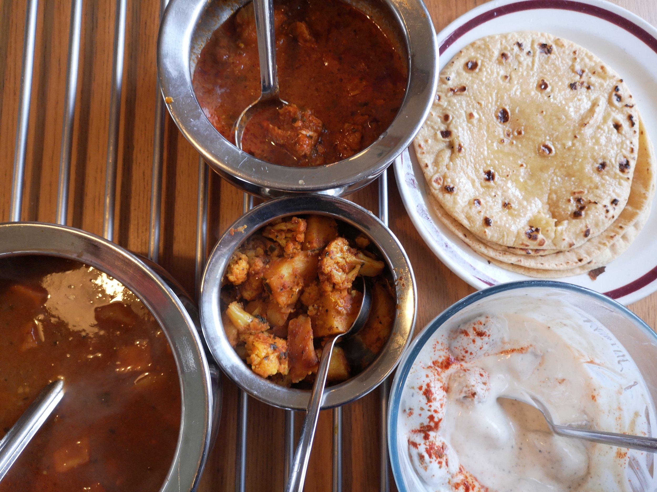 Yogurt, known as raita, is a popular Punjabi staple.