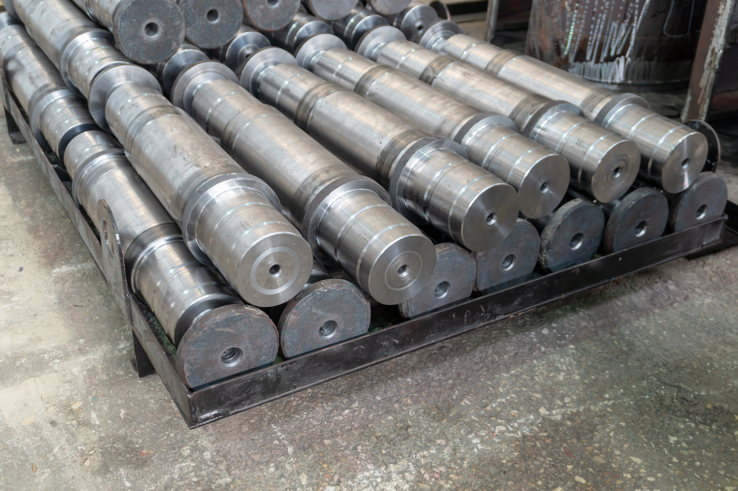 open die forged industrial shafts