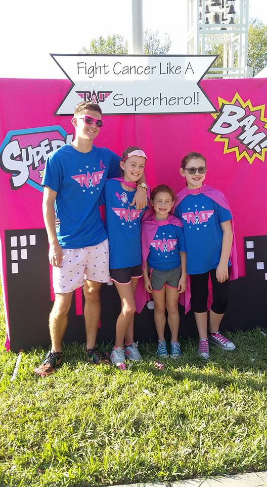 Carrie Mosher's and Carrie Law's kids, who helped set up the tent and greet patients and supporters. They were amazing! Justin Mosher, Breanna Mosher, Emily Law, Avery Law