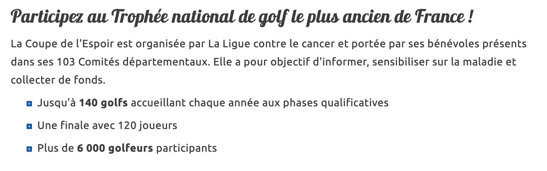 Coupe de l'Espoir Anjou Golf