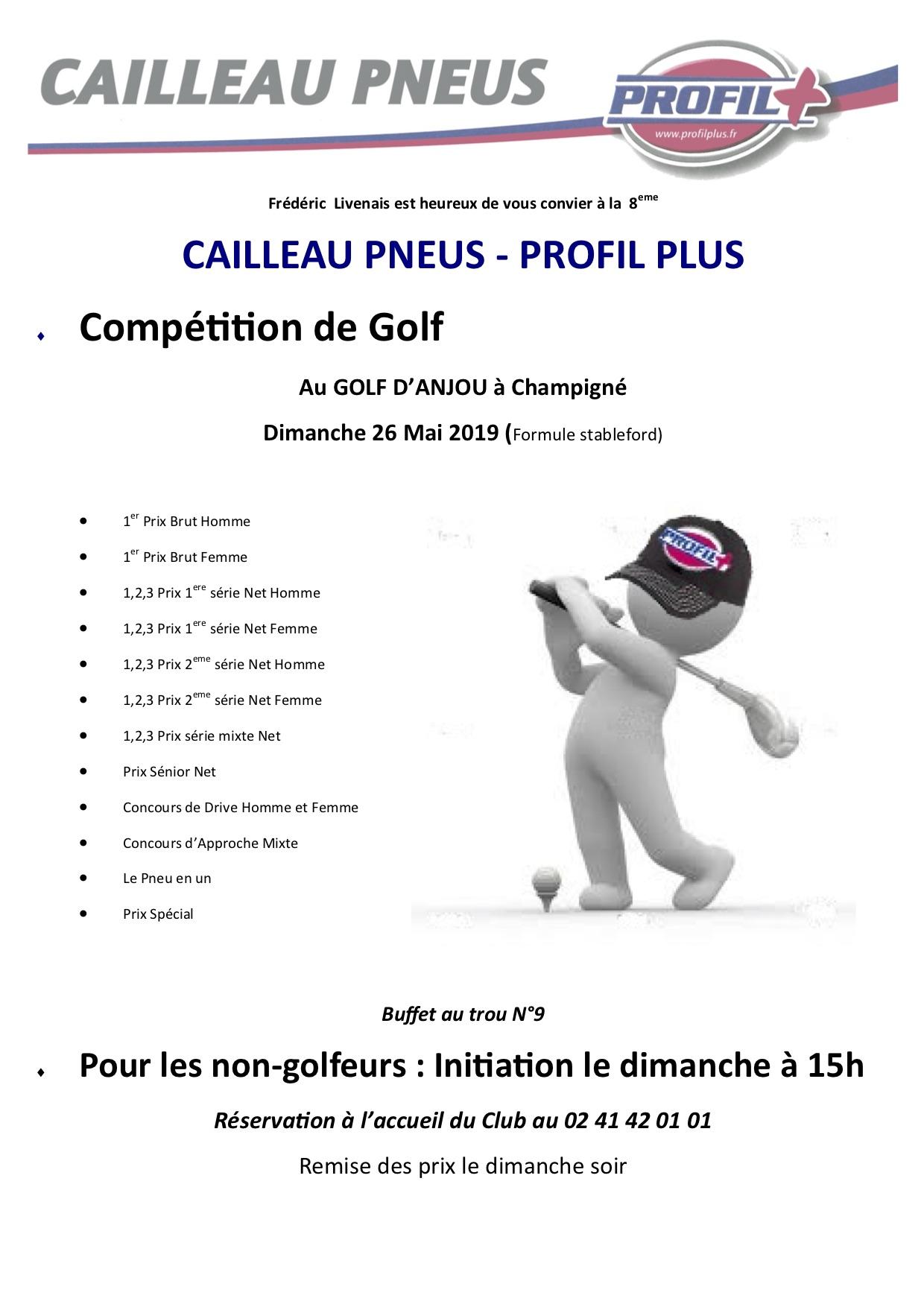 Info Trophée Cailleau Pneus - Profil Plus Anjou Golf