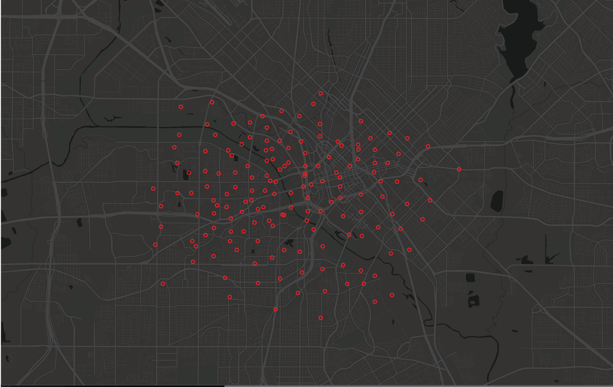 Demand Modeling - A scooter company was having difficulty increasing rides per day in a key market. They were experiencing high levels of competition in the city and were not adjusting their morning drop off locations based on fluctuating demand or things like weather.Data scientists at this company used the Zoba Platform to decouple supply from their utilization data to see exactly where their customers would use their vehicles if they could have them anywhere.