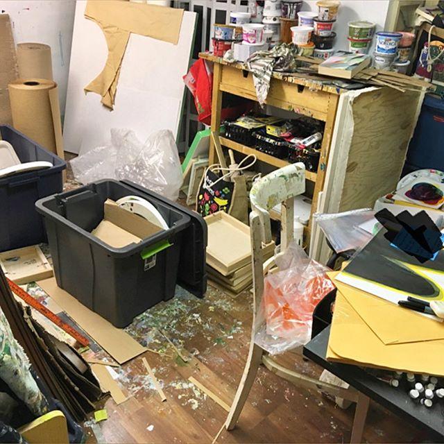 Life gets messy sometimes. . . #studioviews #messystudio #inthestudio #shitshow
