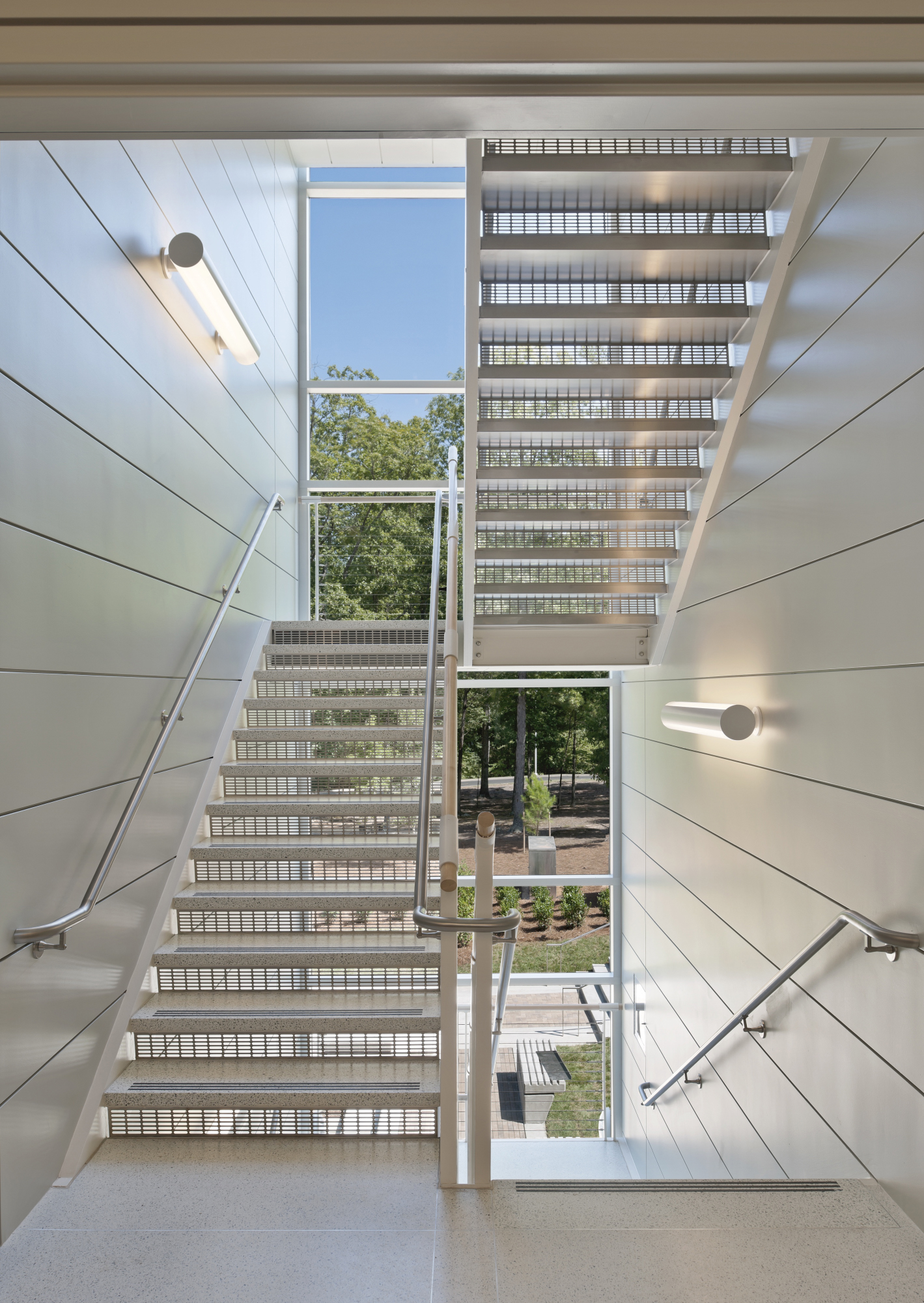 North Carolina Biotechnology Center photo | staircase view