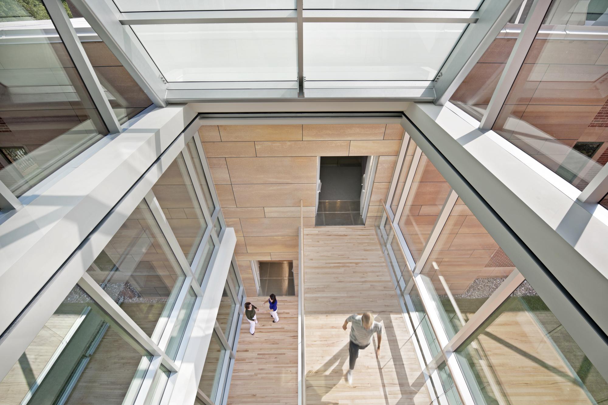 North Carolina Biotechnology Center photo stairwell