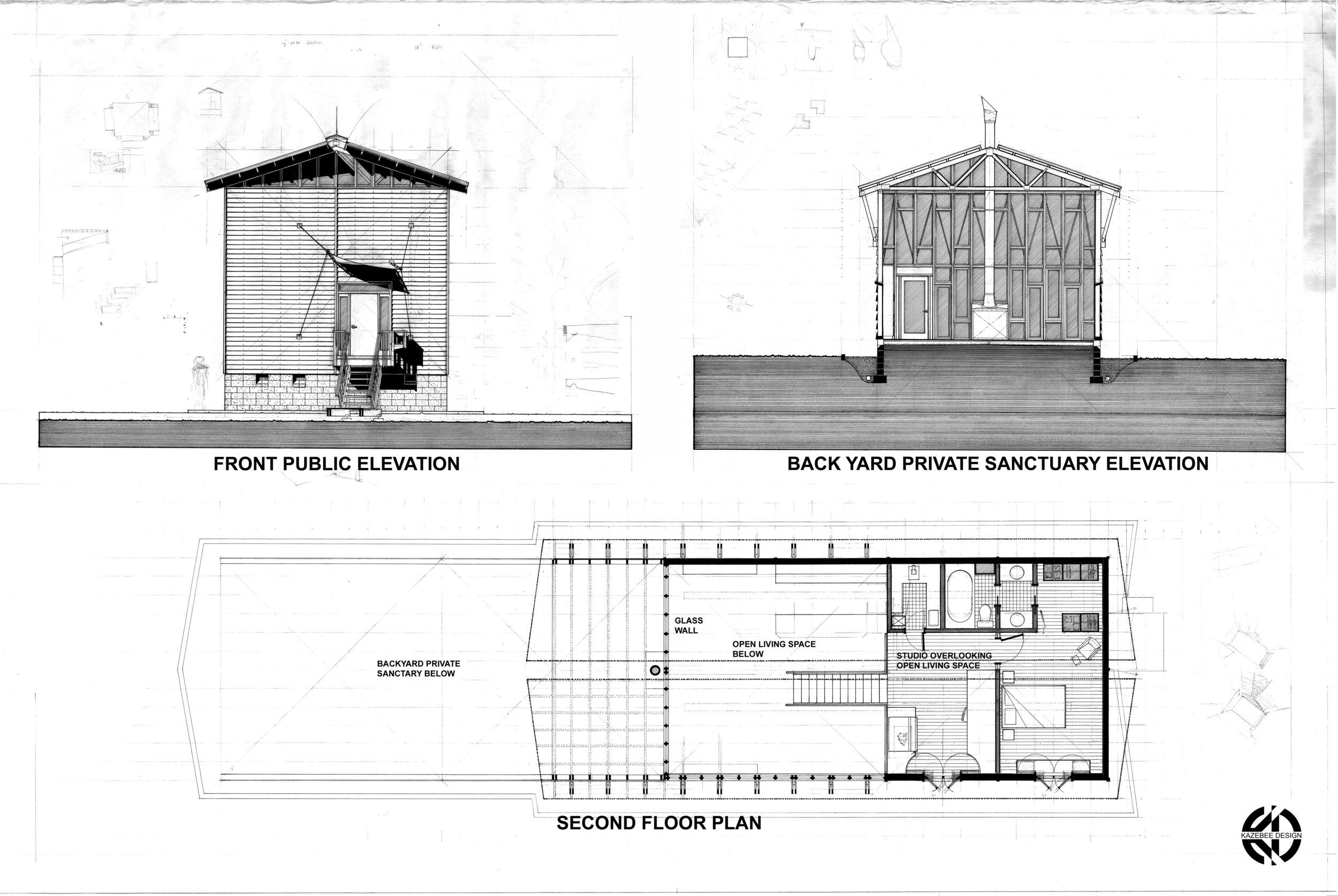 Kazebee House second floor concept image
