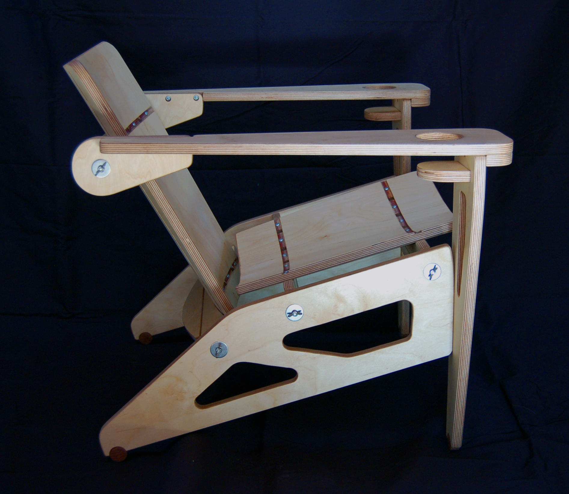 plywood chair side image