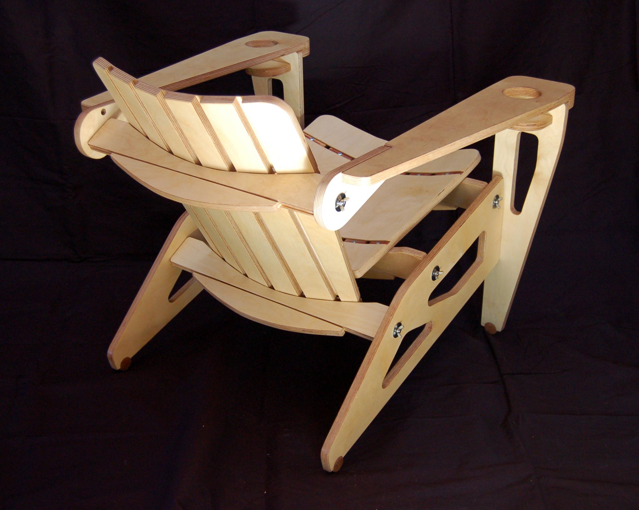 plywood chair black angle image