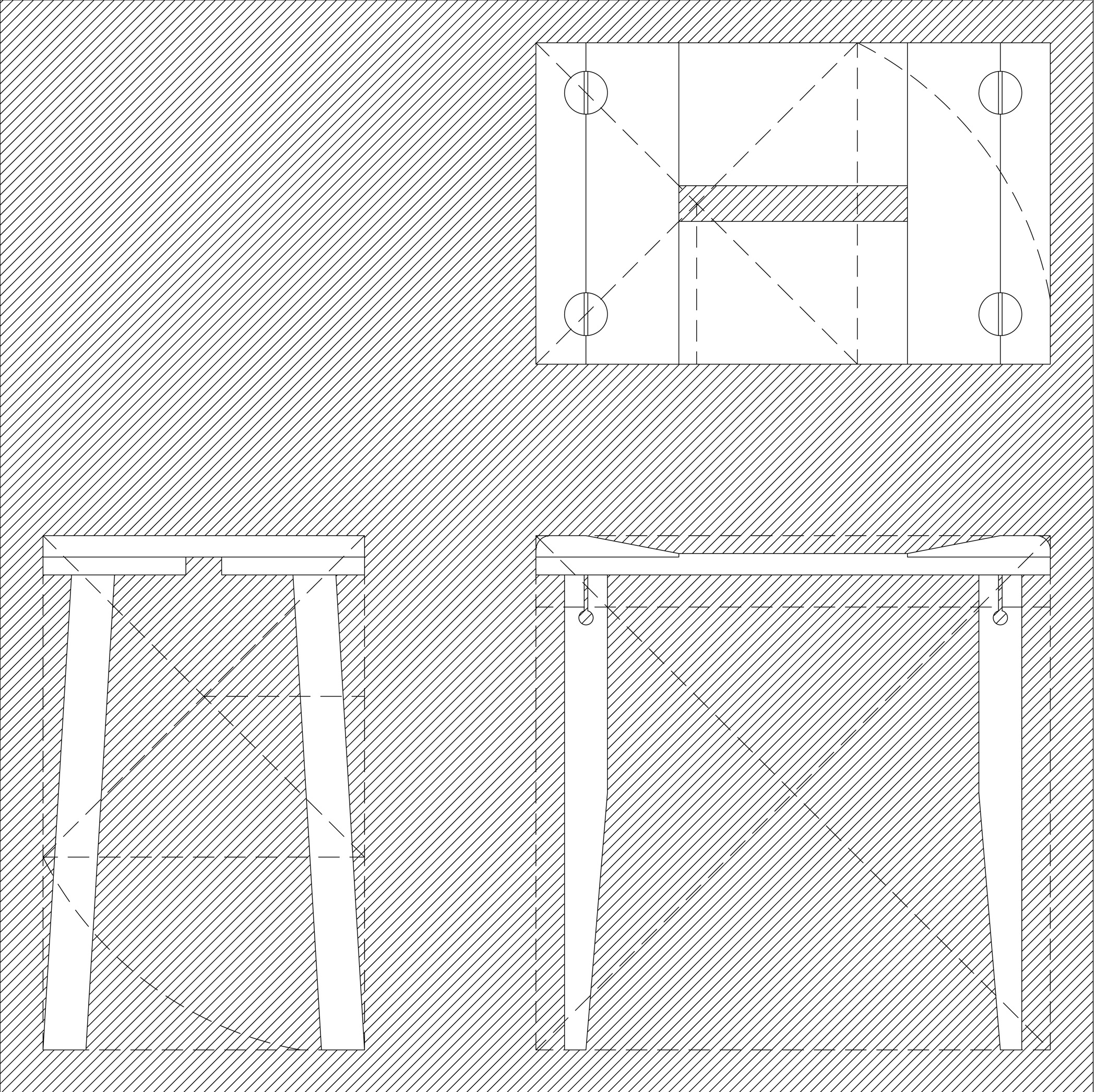 simple stool drawing image