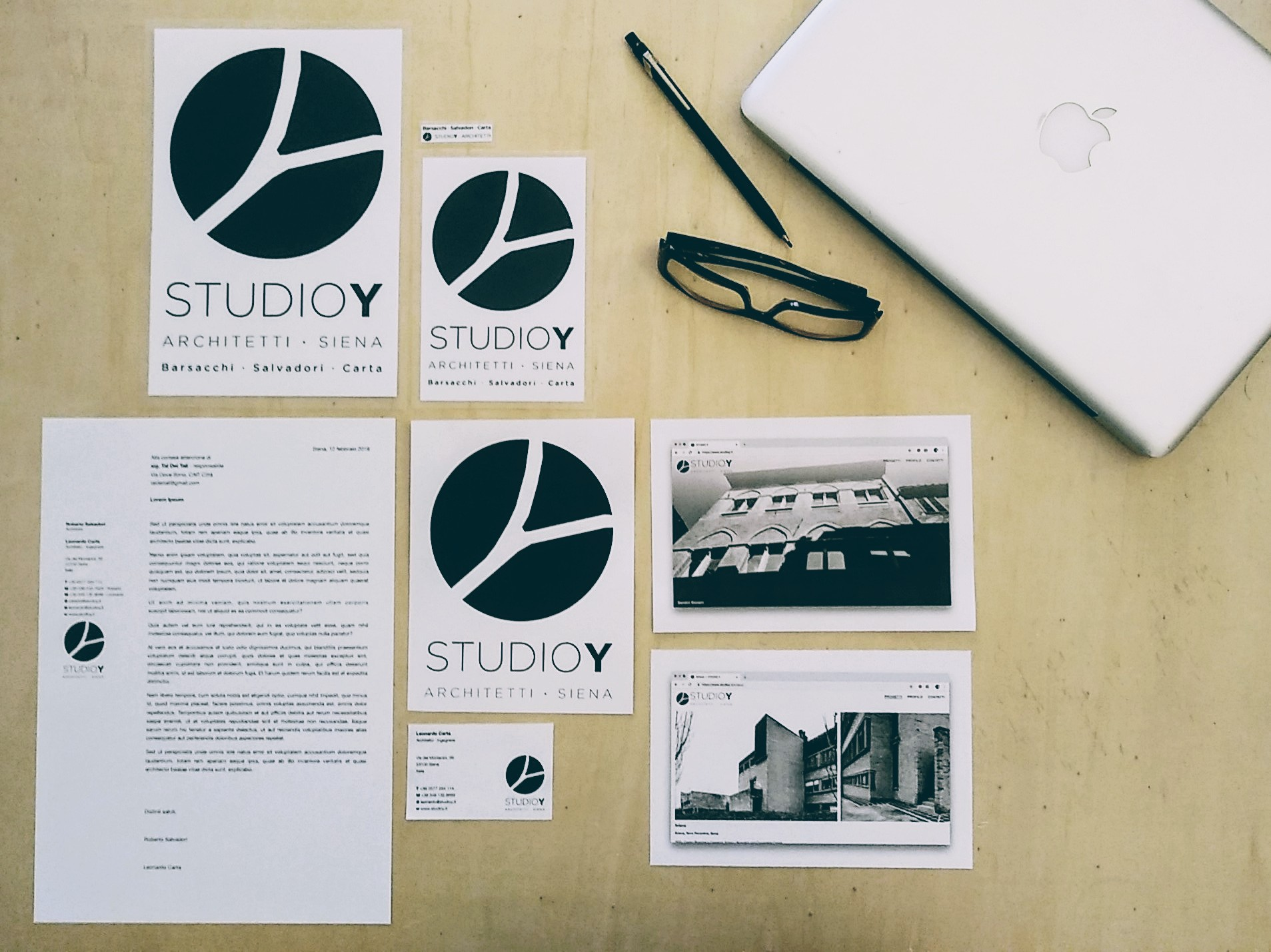 Brand identity, logo design, graphic design, website design realizzato da /  created by  STUDIO Y