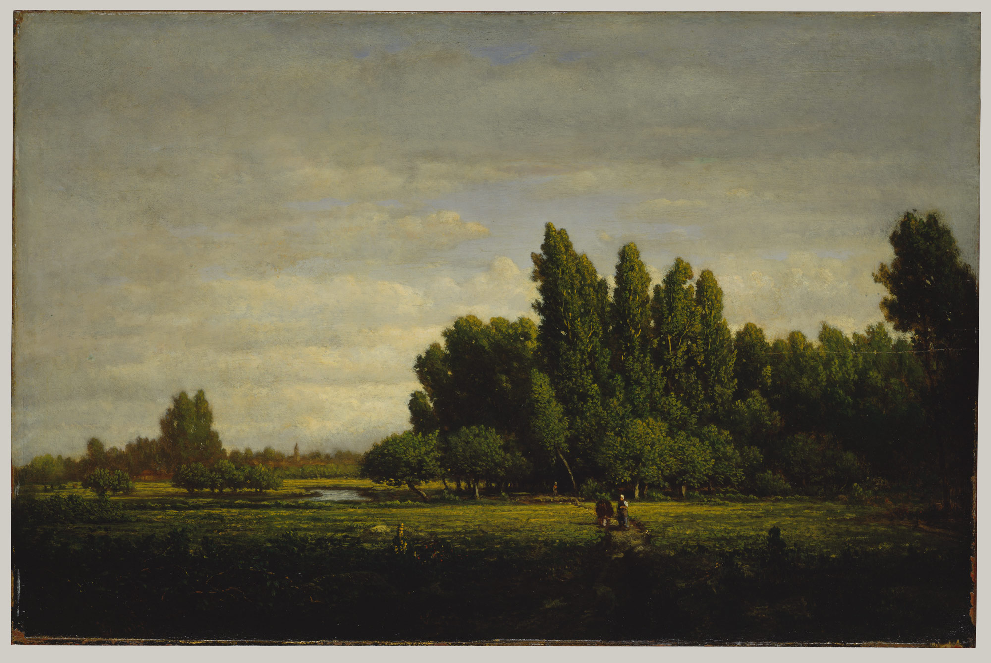 A Meadow Bordered by Trees Théodore Rousseau (French, Paris 1812–1867 Barbizon)
