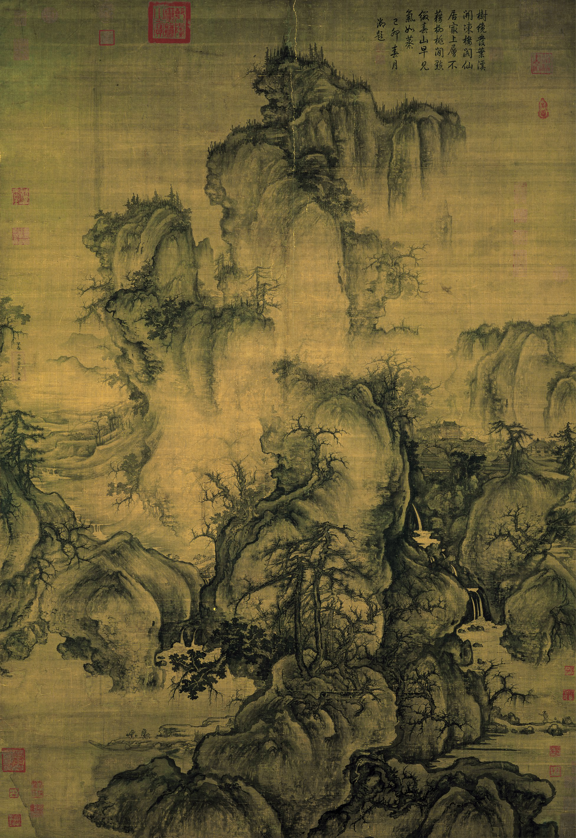 Early Spring  , painted by Northern  Song dynasty  artist  Guo Xi