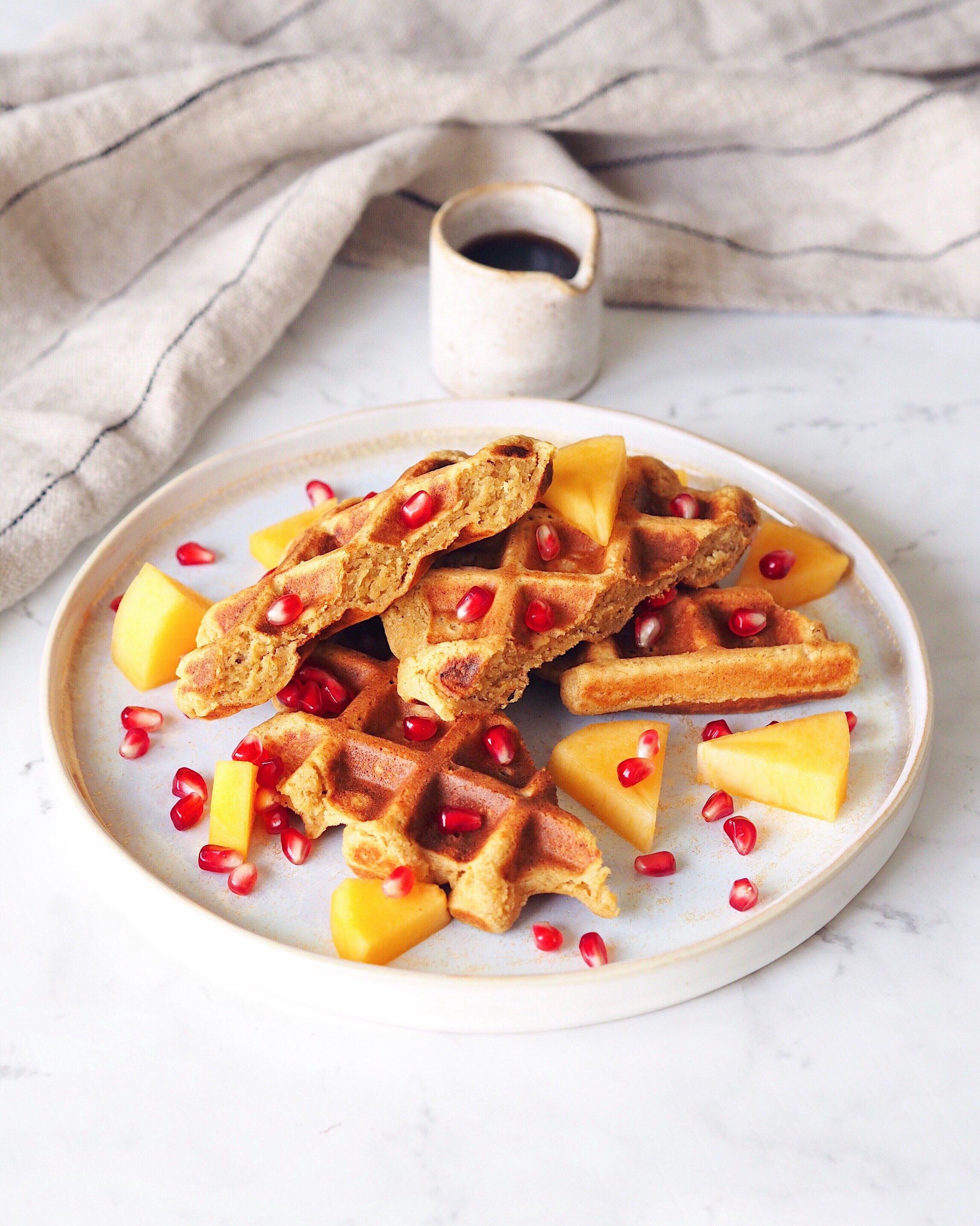 Waffles de Dióspiro