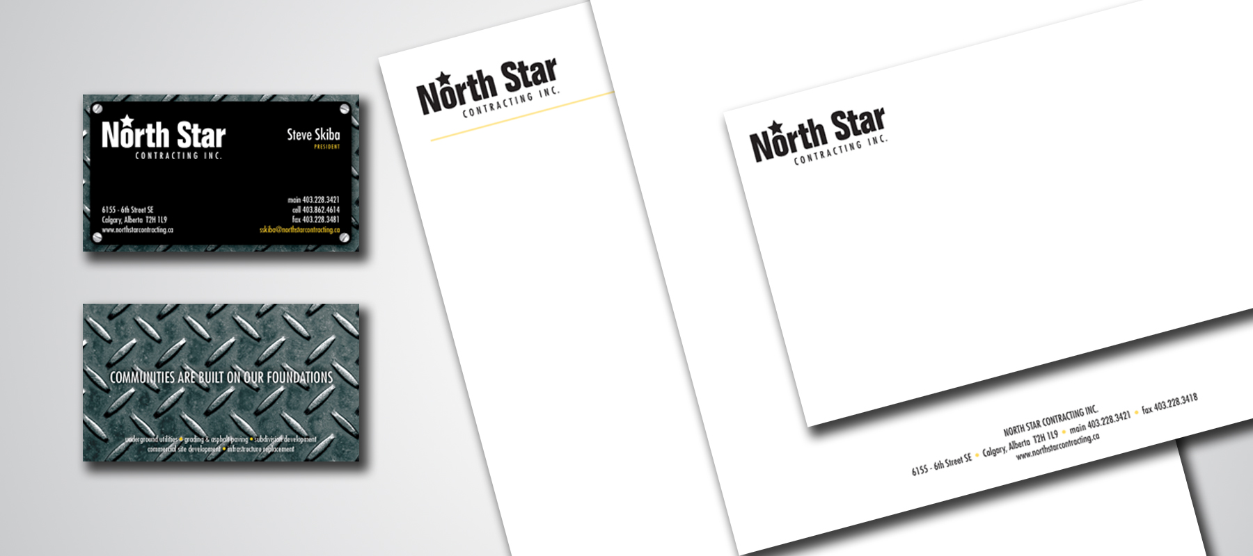 North Star Contracting | Business Card and Stationary