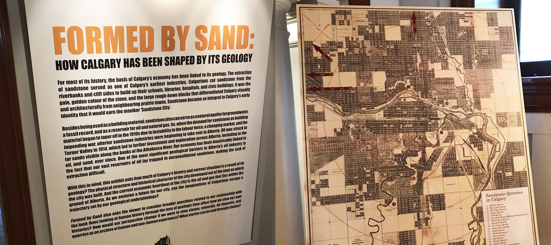 Lougheed House | Formed by Sand Exhibit