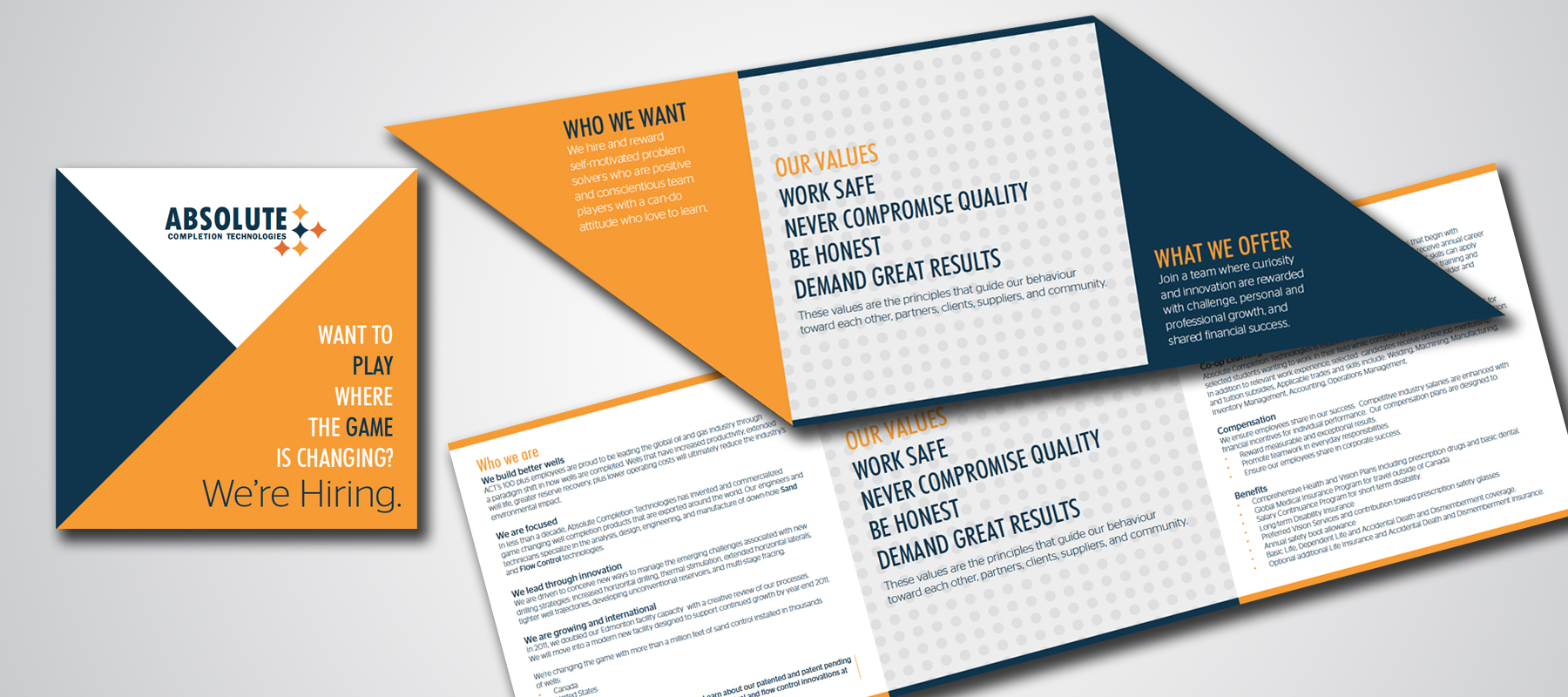 Absolute Completions Technologies | Recruiting Multi-Fold Brochure