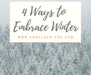 4 Ways to Embrace Winter. Counseling near St. Paul in Mahtomedi, Minnesota.