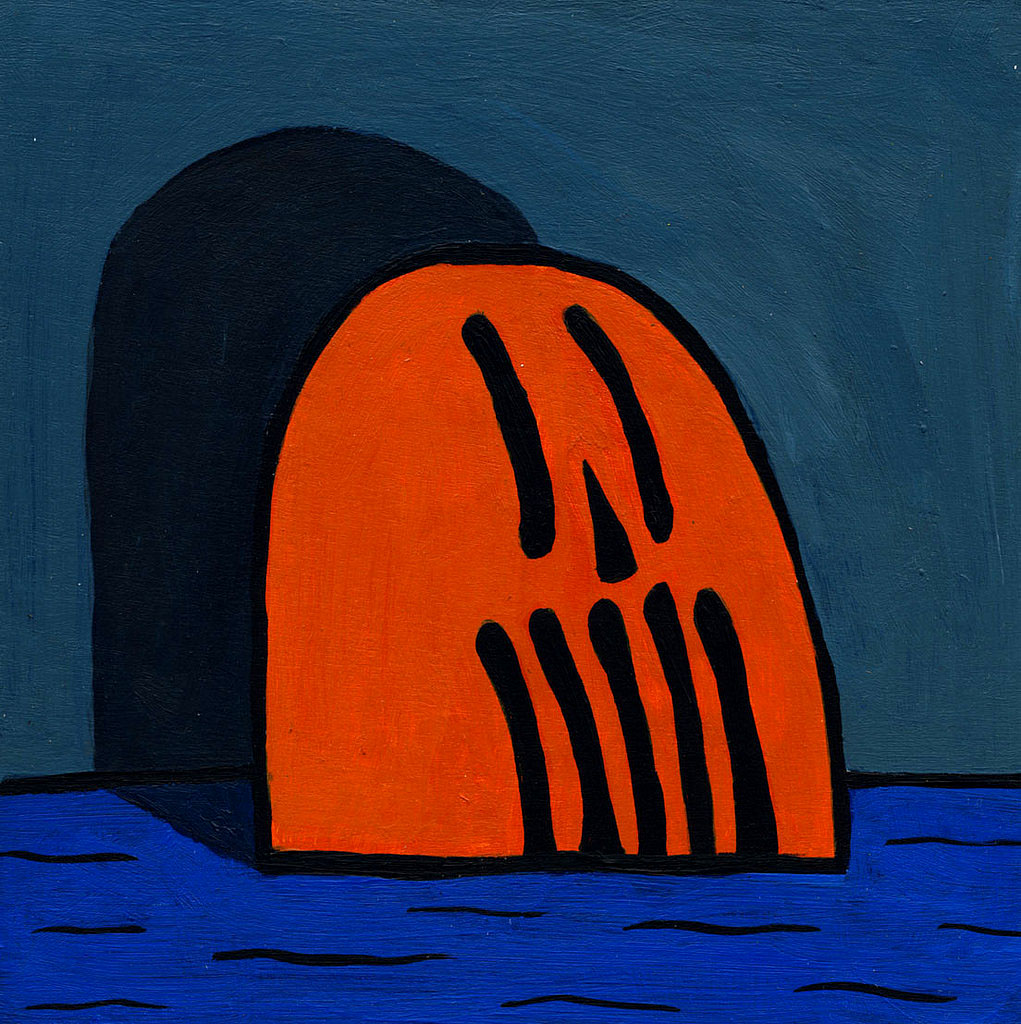 orange skull, 2012