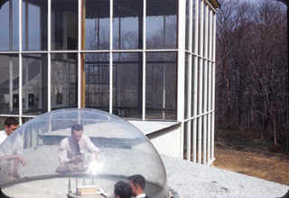 Victor and Aladar Olgyay at the Princeton Architectural Laboratory, c. 1955