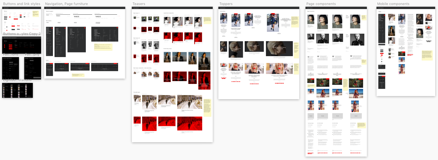 Vogue components within Atelier (note UI not my design) -