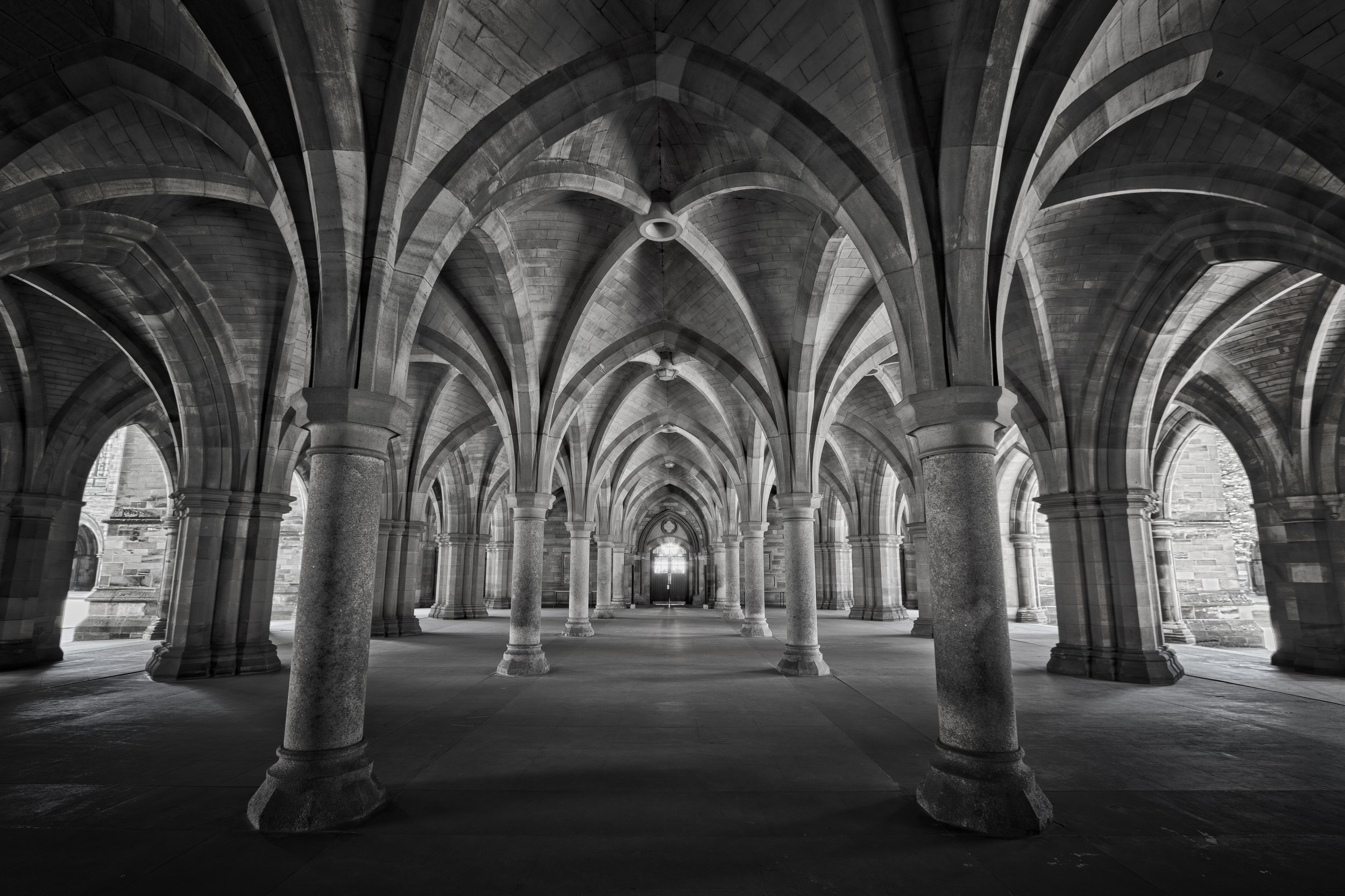 Glasgow University Cloister (used as a location for Outlaw King)