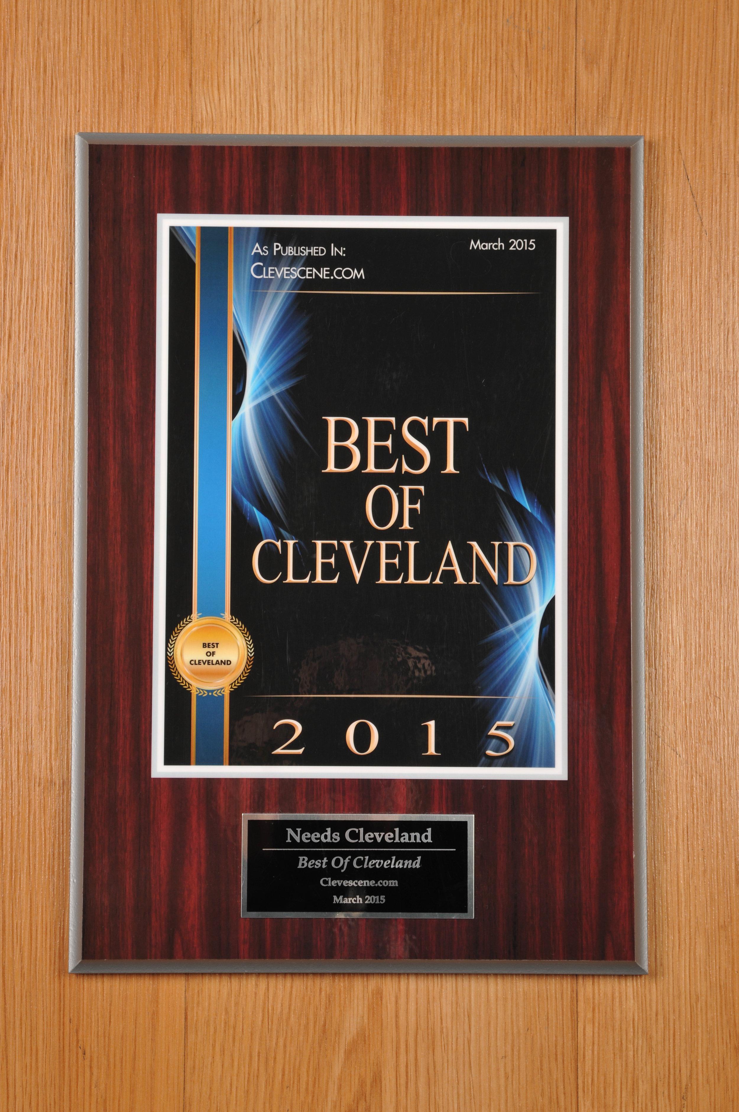 In 2015, Needs Cleveland won Scene Magazines Best of Cleveland award!