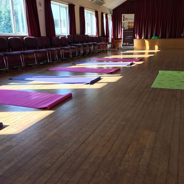 All set up ready for my very first Activmama class! Bring on the Mums!