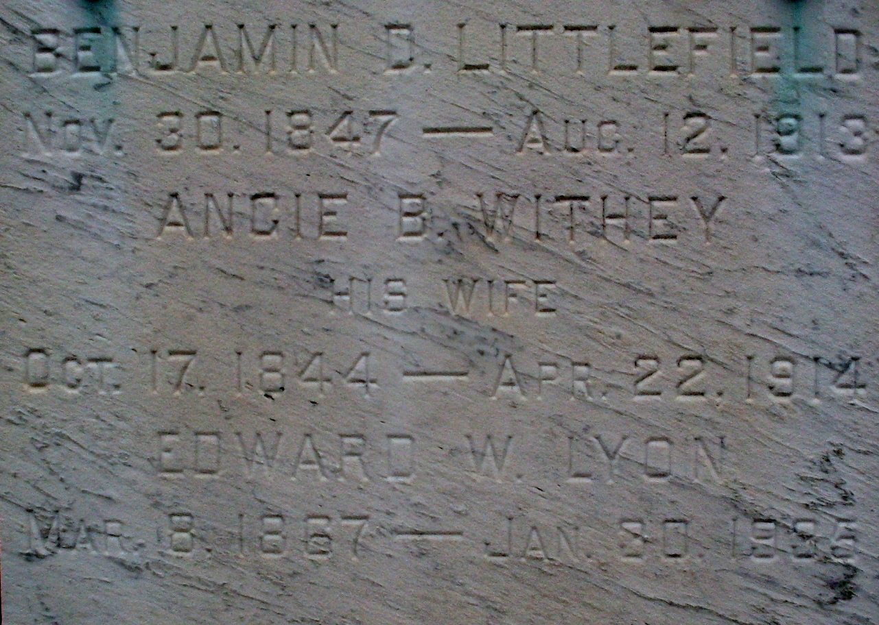 Angie Littlefield Marker (Find a Grave)
