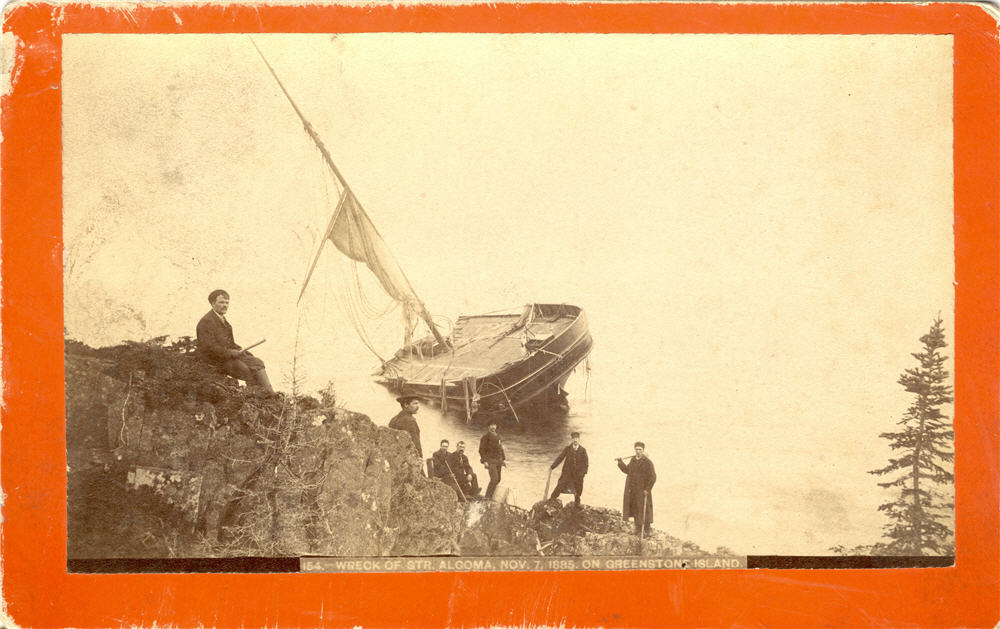 The wreck of the gloma (City of Thunder Bay Archives)