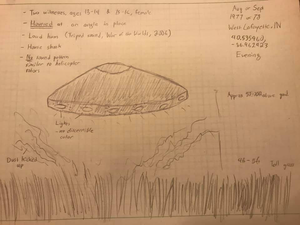 The UFO drawing Landon drew.