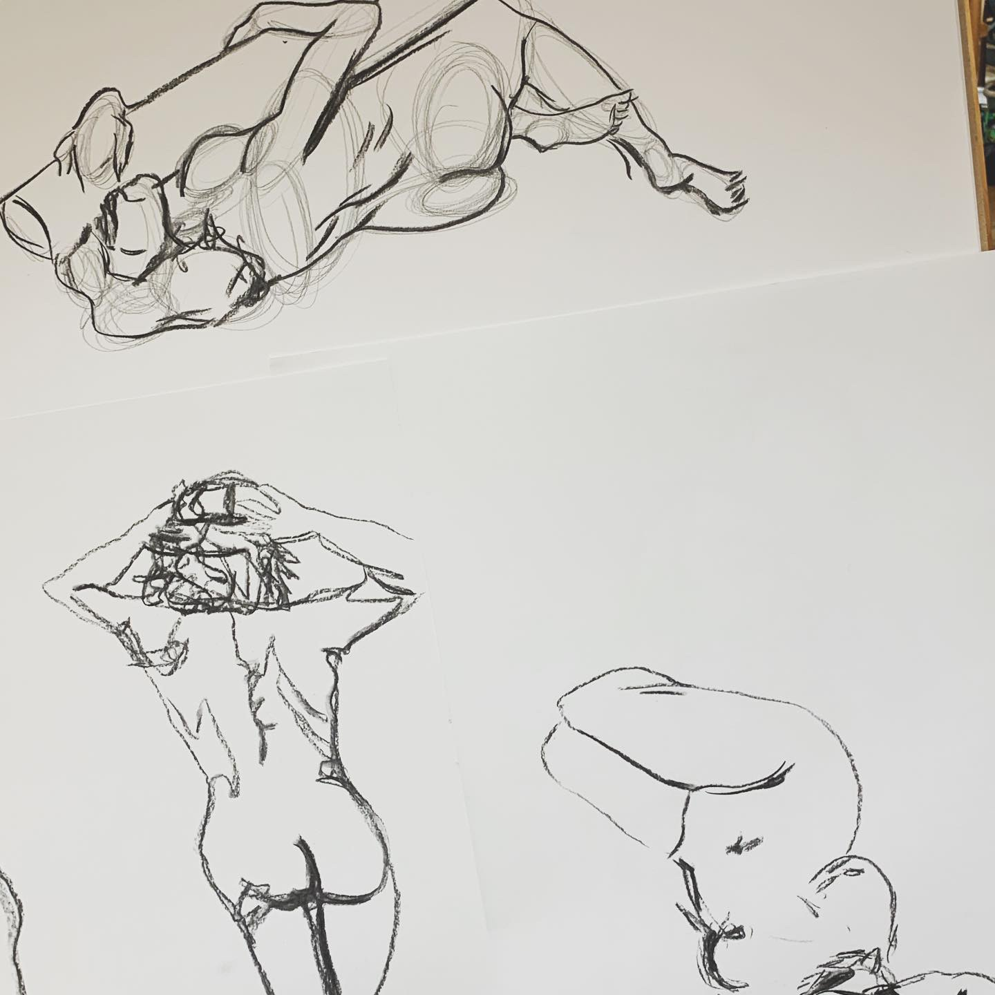 Some of the outputs of me drawing what I saw in front of me