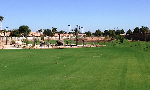 Meadowbrook Park, the 51st neighborhood park, is located at Queen Creek Road and Val Vista Drive. The park includes open turf areas, irrigation, lighted sand volleyball and basketball courts, obstacle/fitness equipment with shade structures (inspired by the television show American Ninja Warrior), court games, a picnic ramada, drinking fountain, bike rack, benches, picnic tables, barbeque grill, trash receptacles and lighted walkways.