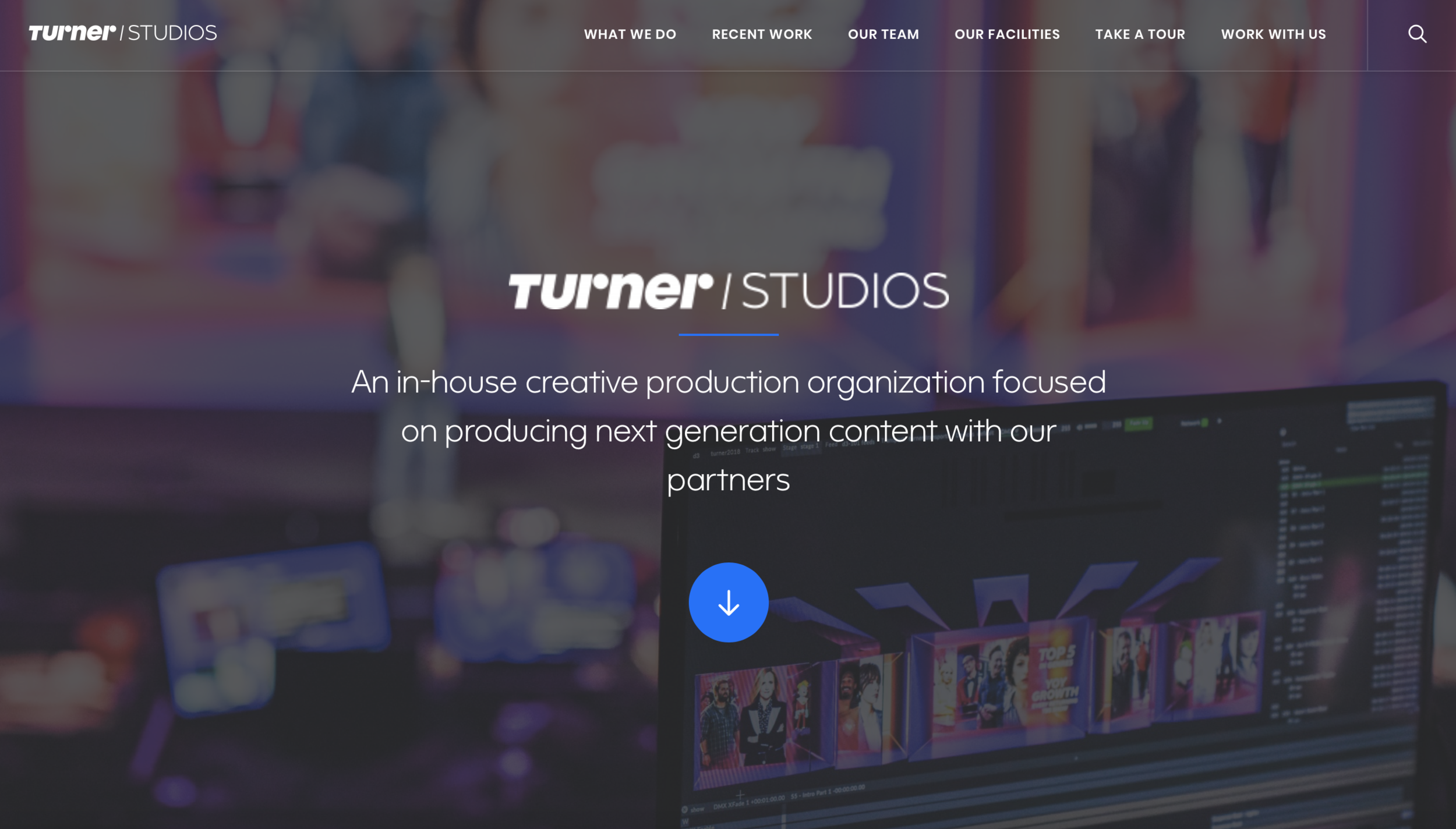 Turner Studios - Turner Studios is a unique creative resource built to support Turner's unique breadth of brands that include: TNT, TBS, truTV, Turner Sports, Cartoon Network, Adult Swim, etc.CMS: Wordpress