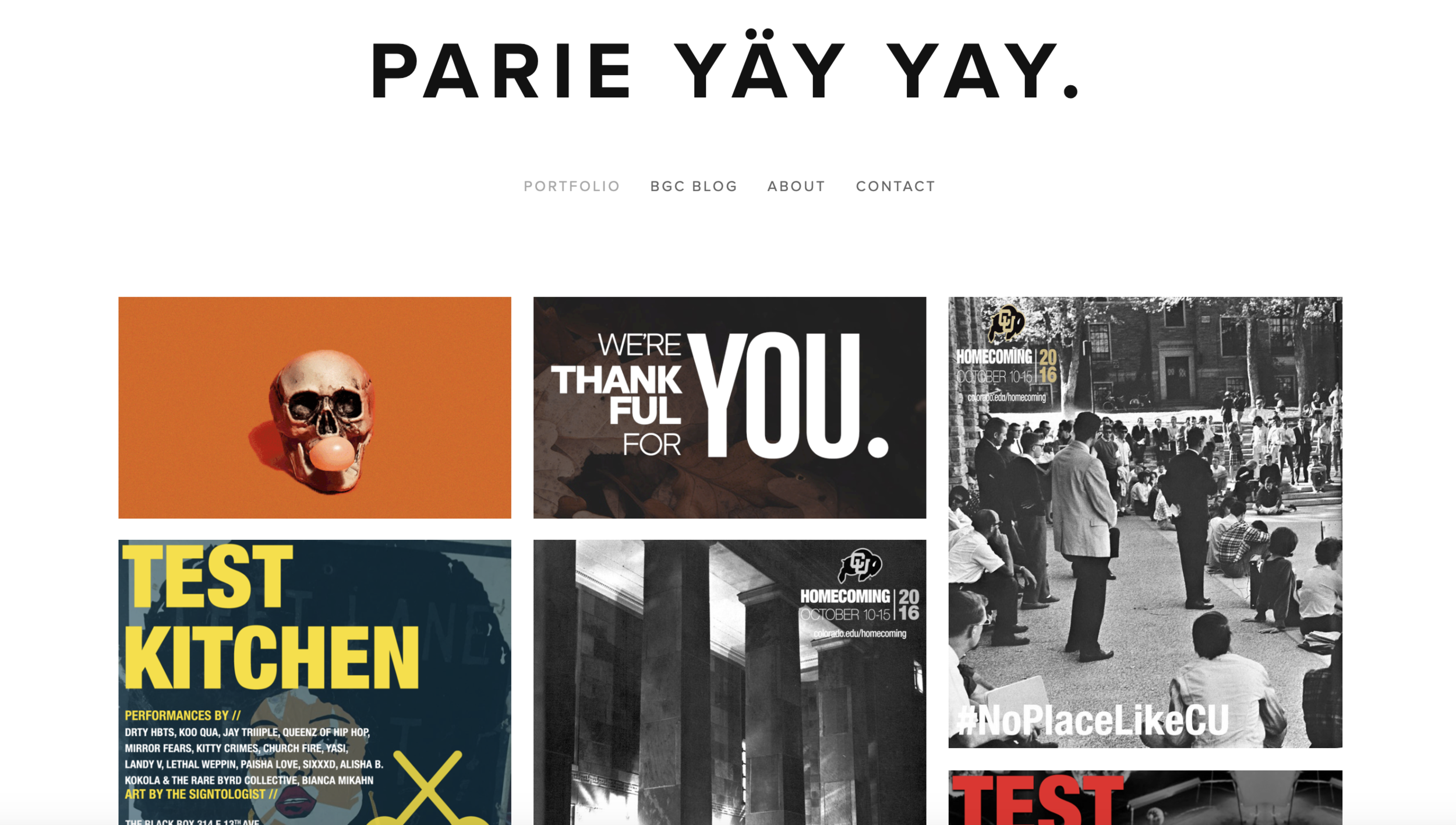 PARIE YÄY YAY - Parie Yäy Yay is a virtual portfolio & passion project based on creatively cultivating a variety of modern-day millennial & POC experiences through experiential content.CMS: Squarespace