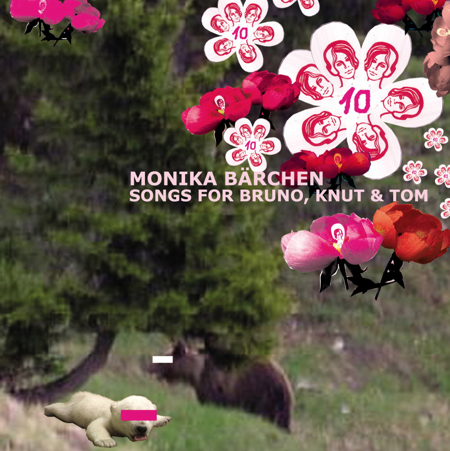 MONIKA BÄRCHEN: SONGS FOR BRUNO, KNUT & TOM   This compilation album was originally dedicated to a controversial cub 'Knut ' born at Nuremberg zoo in Germany . Mieko Shimizu as Mico contributed 'I see a soul'. She later re-arrange it and included in Mico's album ' My Tentacles'.  Released 2007 available from   Monika Enterprise