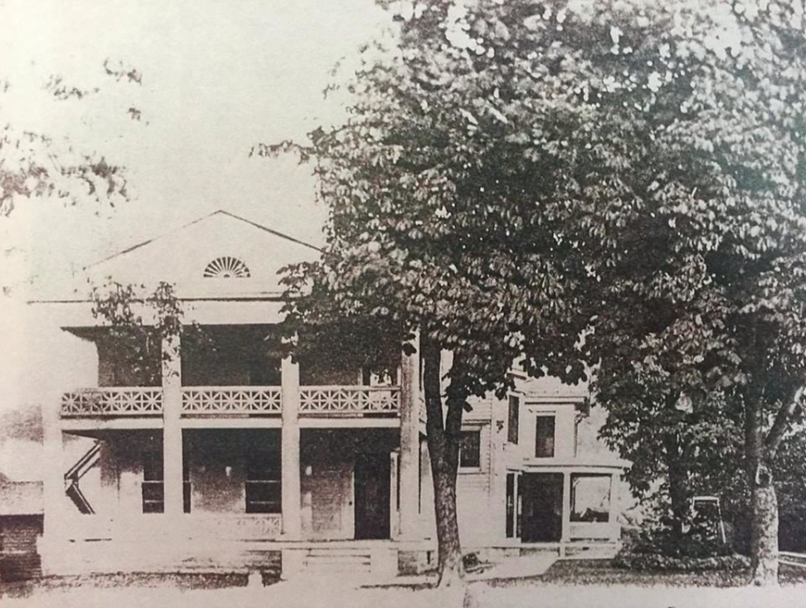 - The Maxfield Residence about 1920.Calvin Luther bought the property in 1821. The land parcel was close to the old Luther Mill. Calvin was Nathaniel Luther's son. Calvin Luther built the front portion of the house with columns between 1832 and 1841. Calvin Luther built the house to entice his childhood sweetheart Rebecca to marry him and move to Naples.The rear of the building was adding in 1878 by Hiram Maxfield and in 1904 a new balcony with railings and a third floor were added by his son Dennison.