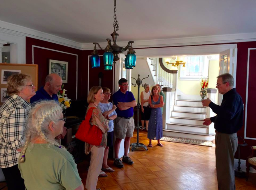 - House Tours August 26th, 2018 with Wayne Buchar. Throughout the day, Wayne took several groups through the house, starting in the front parlor.