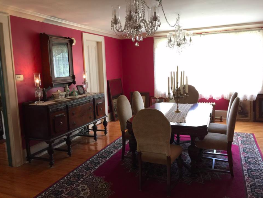 - The formal dining room.