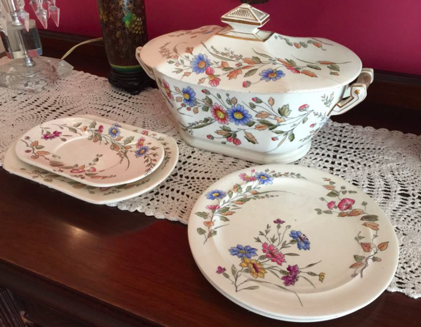 - The Maxfield's china pattern.Meribah, on of the great granddaughters of the Maxfield Family returned this original Maxfield house china to the Inn when she visited Naples in 2018.