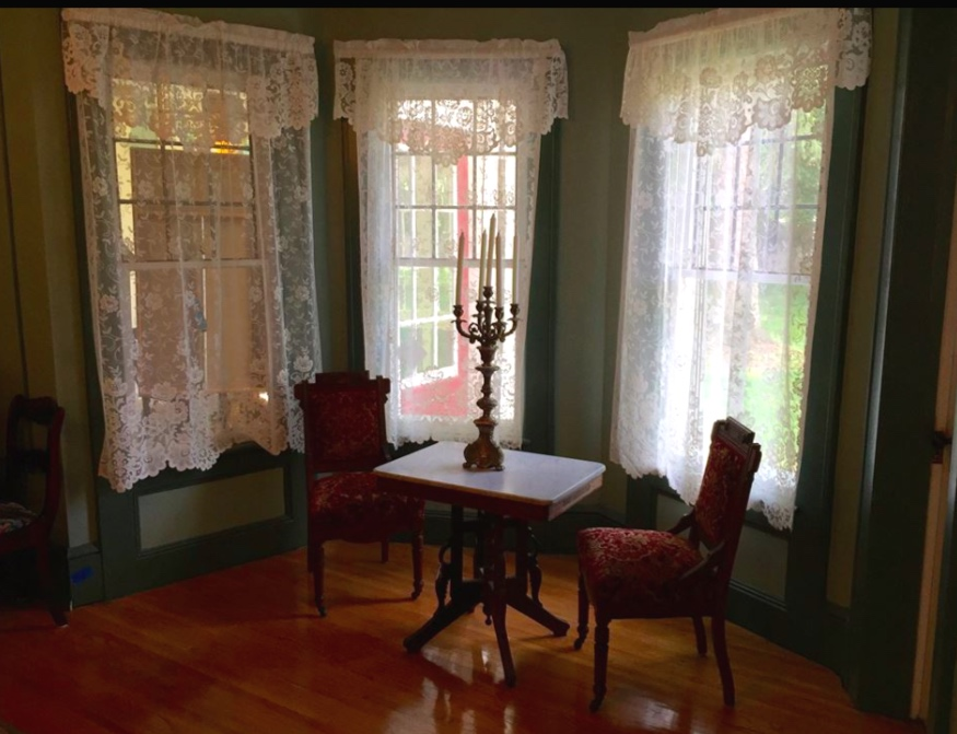 - The curved bay window was added in the sitting room in the late 1800's.Mr. and Mrs. Buchar are furnishing the rooms with pieces correct to the time period. They are particularly interested in furniture and items that originated in the house. The Inn will be a museum that you can stay in.