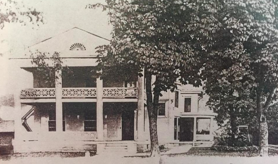 - The Maxfield residence before the fire in 1925.