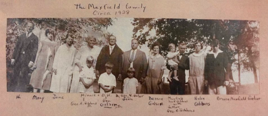 - The Maxfield Family circa 1928.