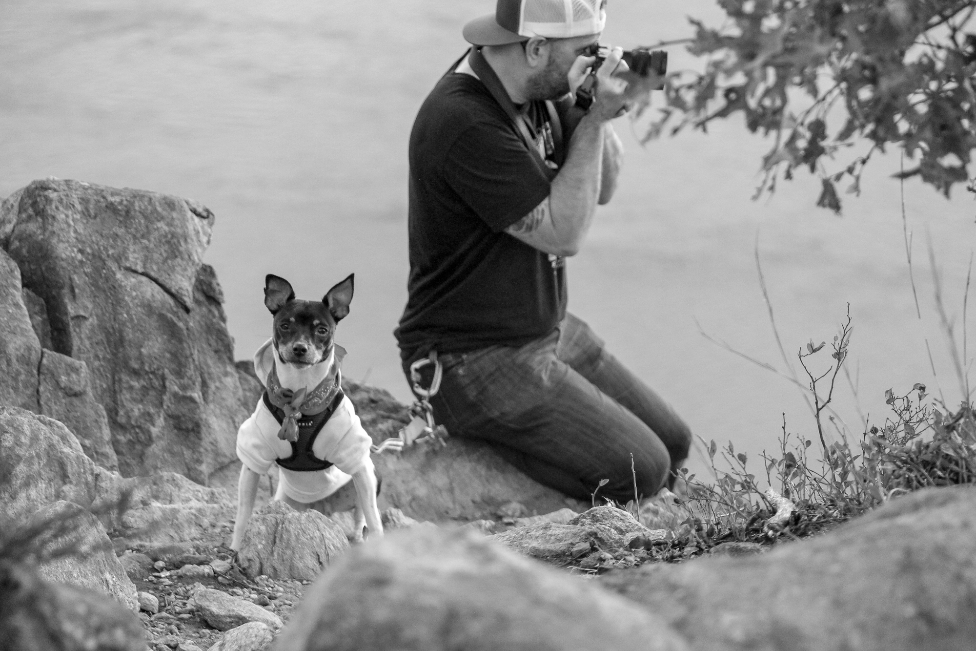 Photographer Rick O'Leary and his sidekick, Charro