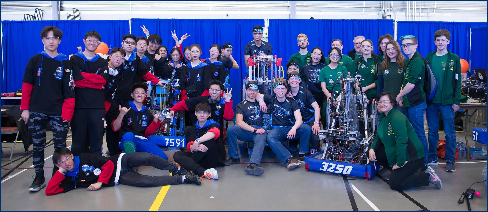Our competition alliance: Aurora 7591 from Beijing and Kennedy Robotics 3250 from Sacramento.