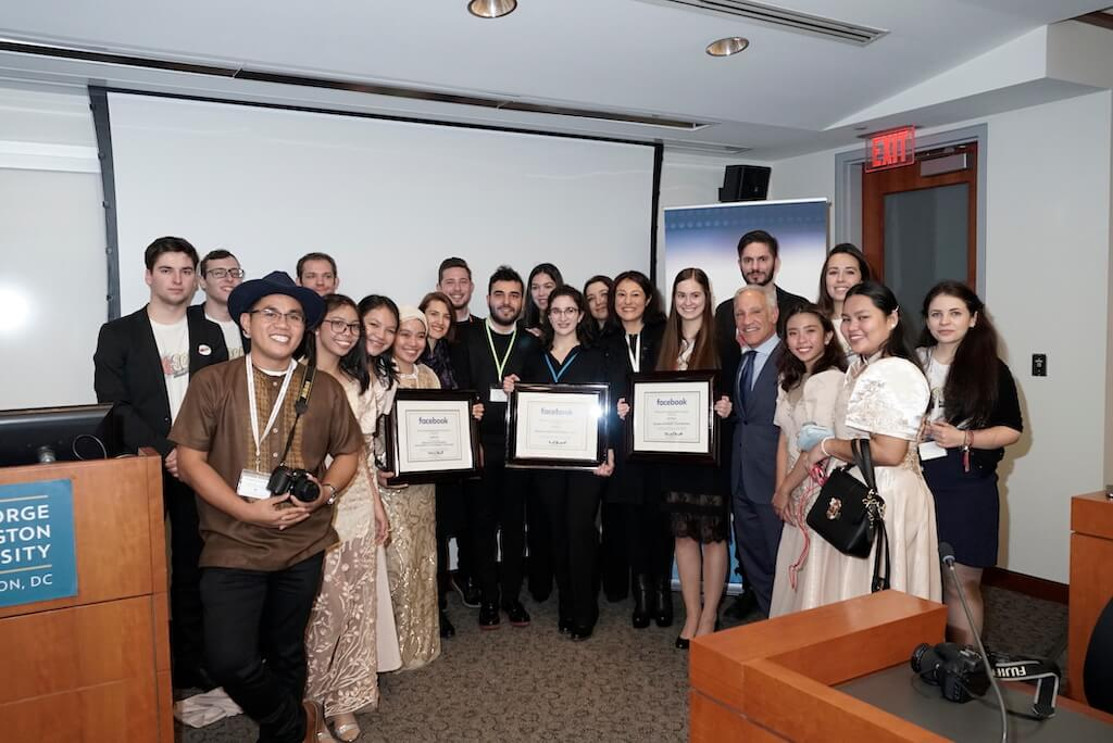 Tony Sgro, Founder and CEO EdVenture Partners, pictured with the top teams.