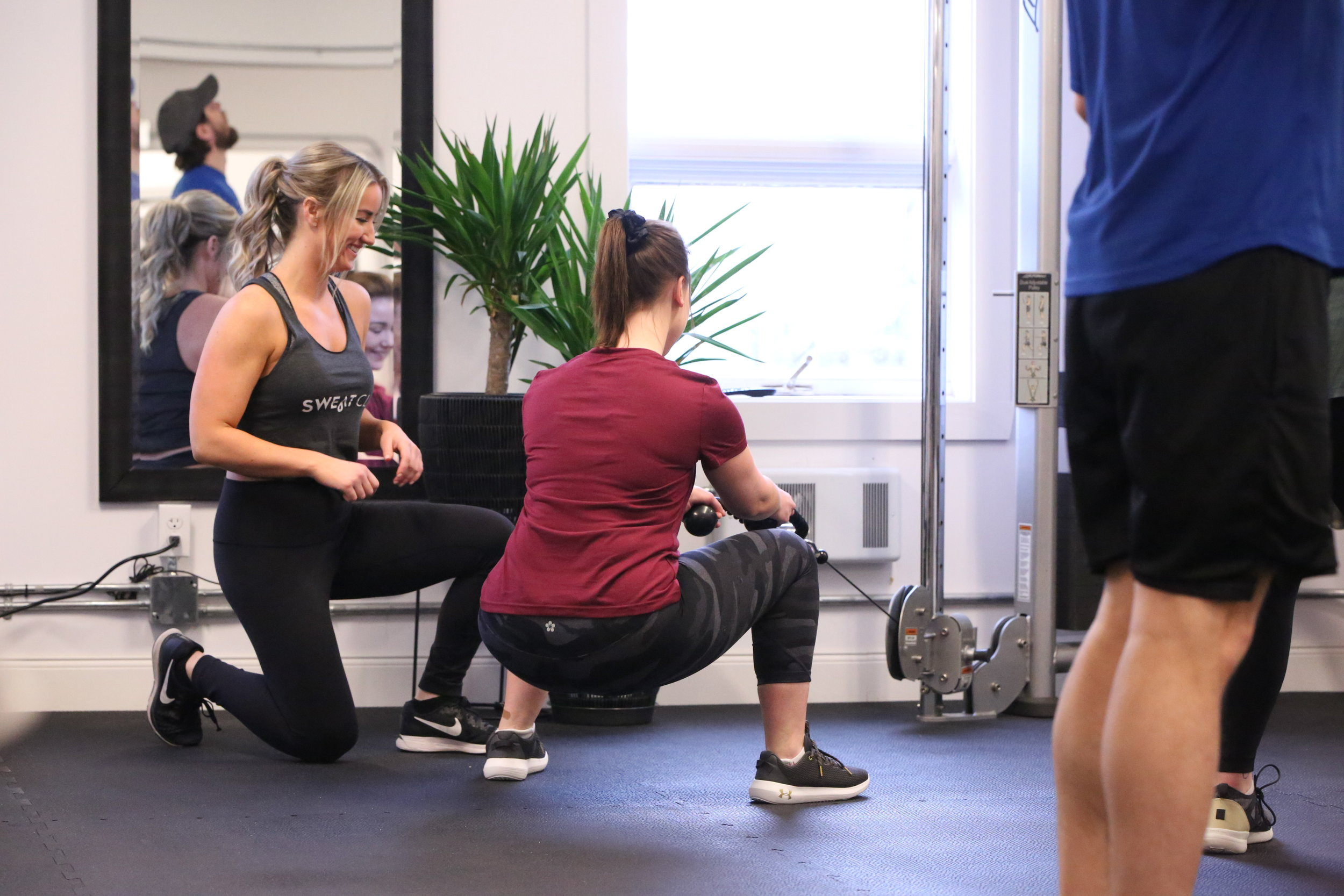 BOOTY + ABS - The focus of this class is on glutes and core but be ready for full body movements. Weights, plyometrics, and more in a circuit fashion. 45 minutes at lunch and 55 minutes in the evenings. All levels welcome.